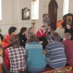 Воцерковление огласительной группы на Пасху 2012 года